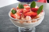 Verrines express fromage blanc/fraises/bananes